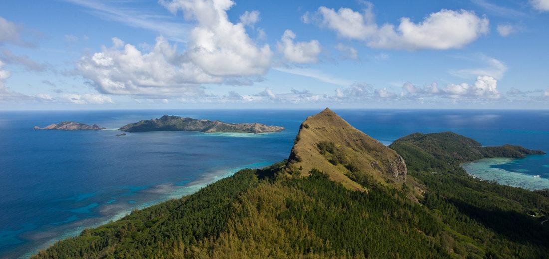 View from Mount Duff towards Taravai and Agakauitai Image credit: Eric Röttinger